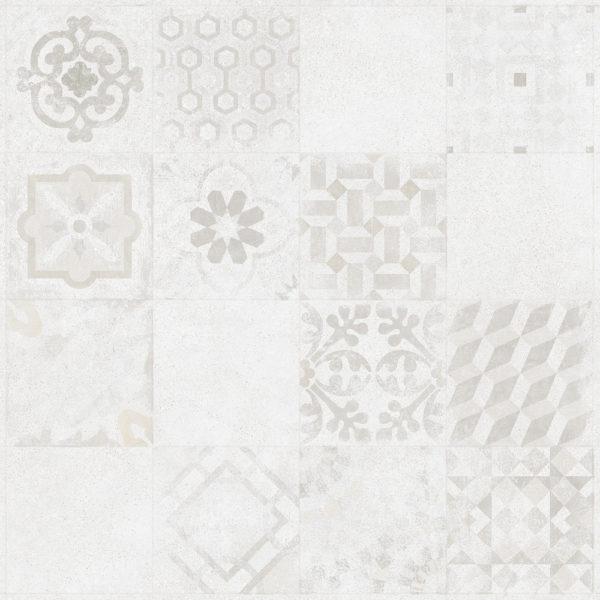 Produktbild Bodenfliese Bona weiss/grau dekor 60x60 matt
