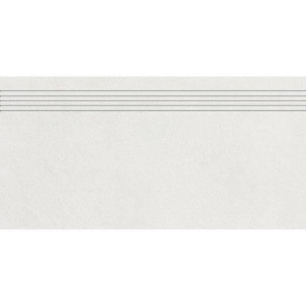 Produktbild Stufenfliese - Rillenstufe Esta weiß 30x60 matt