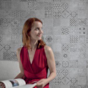Produktbild Bodenfliese Bona grau dekor 60x60 matt