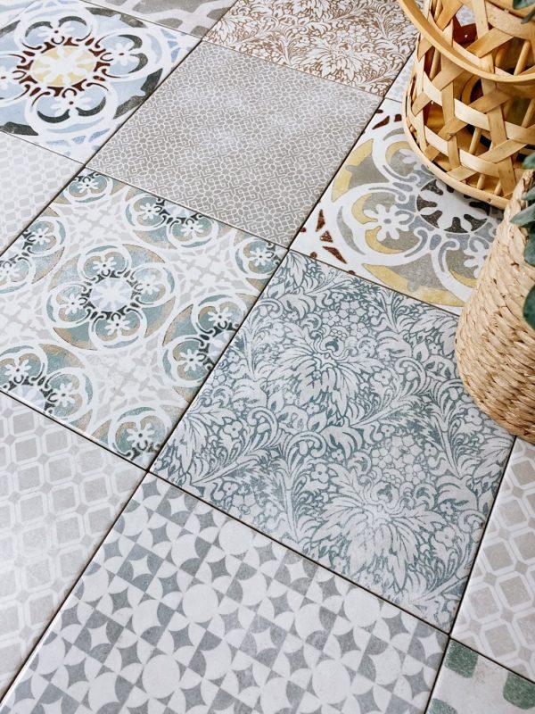 Produktbild der Wand- oder Bodenfliese Jasba Pattern vola multicolor 20x20 matt aus Steinzeug