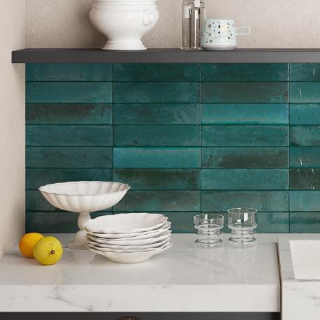 Produktbild Marazzi Lume blue 6x24 glänzend