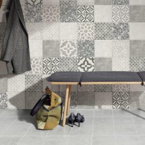 Produktbild Wandfliese Jasba Pattern vola grau 20×20 matt