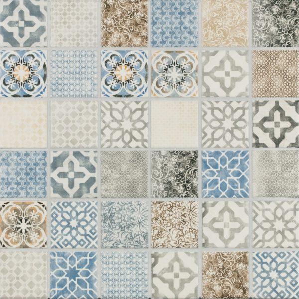 Produktbild Mosaikfliese Jasba Pattern vola bunt secura 5x5 matt
