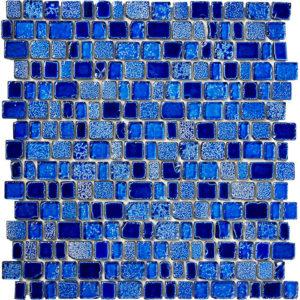 Produktbild Mosaiktafel Glasmosaik Glenn aquamarin 30,9x31,3 matt
