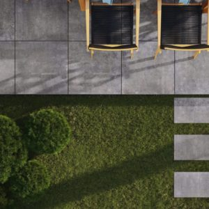 Produktbild Terrassenfliese Montana anthrazit 80x80 matt Betonoptik