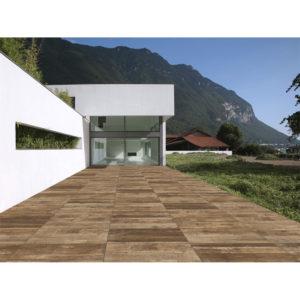 Produktbild Terrassenplatte Holzoptik Paige braun aus Feinsteinzeug